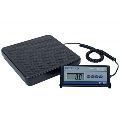Detecto DR400 Digital Shipping Receiving Scale w lb kg Conversion, Display, 400 x .5 lb, 115v on Sale