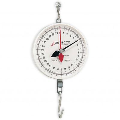 Detecto MCS-40DH Plated S-Hook Hanging Scale w/ 8 Double Dial, 2 Revolution, 40 lb on Sale