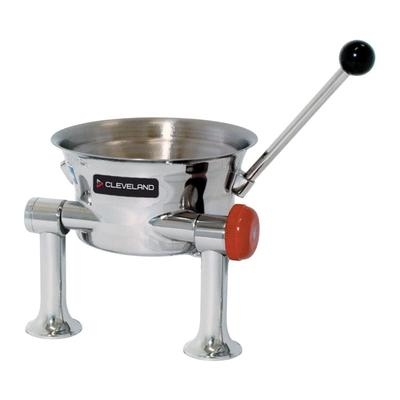 Cleveland KDT-1-T 1/2-gal. Steam Kettle - Manual Tilt, 2/3 Jacket, Direct Steam on Sale