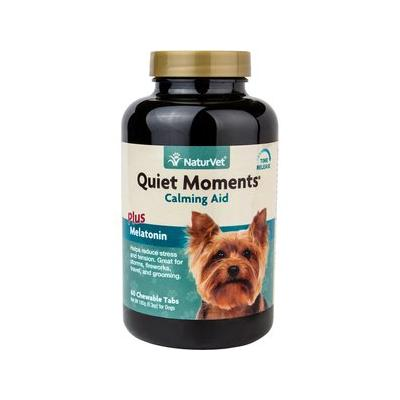 NaturVet Quiet Moments Calming Aid Plus Melatonin Dog Tablets, 60 count