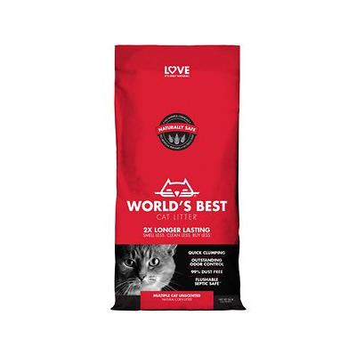 World's Best Cat Litter Scoopable Multiple Cat Clumping Formula, 28-lb bag