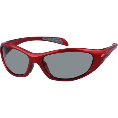 Zenni Women's Sunglasses Red Plastic Frame
