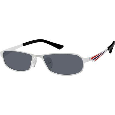 Zenni Mens Sunglasses White Frame Stainless Steel A8404130
