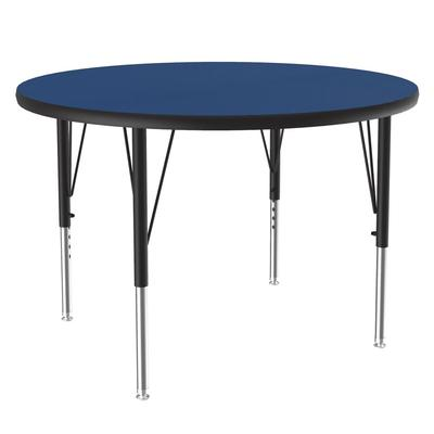Correll A36-RND 37 36 Round Table w/ 1.25 High Pressure Top, Blue on Sale