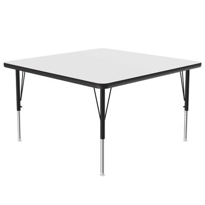 "Correll A4848-SQ 36 Activity Table w/ 1 1/4"" High Pressure Top, 48""W x 48""D, White"