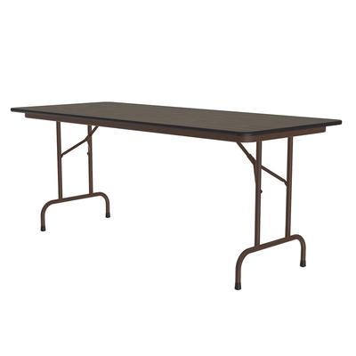 Correll CF2472M 01 Melamine Folding Table w/ 5/8 High Density Top, 24 x 72, Walnut on Sale