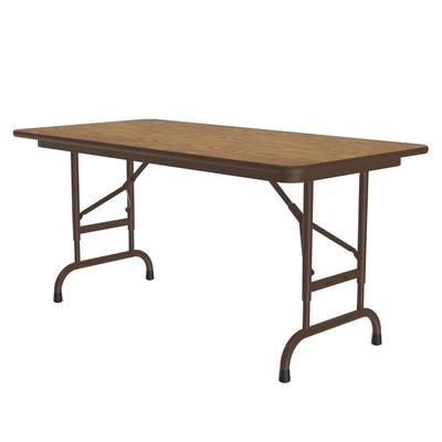 Correll CFA2448PX 06 Folding Table w/ .75 High-Pressure Top, Adjustable Height, 24 x 48, Oak on Sale