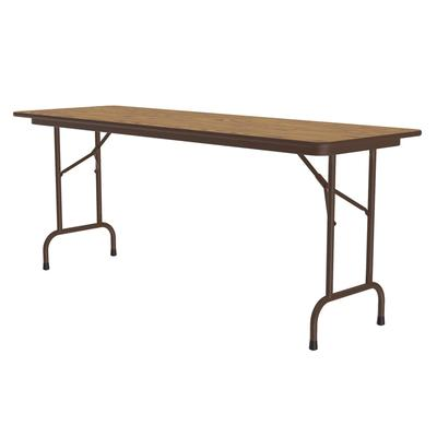 Correll PC2496P 06 Solid Plywood Core Folding Table w/ Premium High-Pressure Top, 24 x 96, Oak on Sale