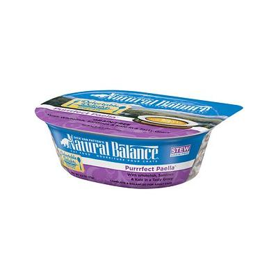 Natural Balance Delectable Delights Grain-Free Purrrfect Paella Cat Stew, 2.5-oz tubs, 12ct