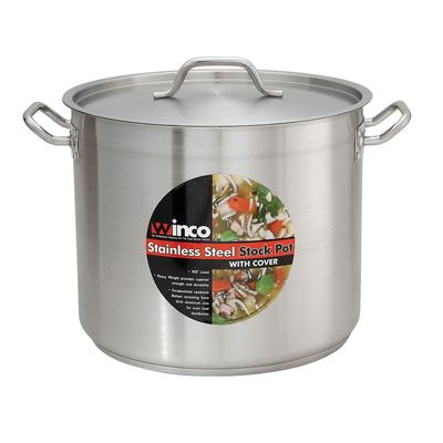 Winco SST-60 60 qt Stainless Steel Stock Pot - Induction Ready on Sale