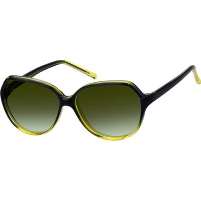 Zenni Women's Sunglasses Green Plastic Frame