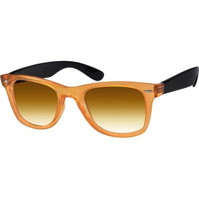 Zenni Women's Sunglasses Orange Plastic Frame