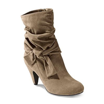 """Knotted Slouchy Boots - Neutral/brown"""