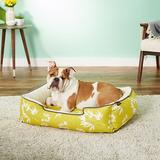 P.L.A.Y. Pet Lifestyle and You Bamboo Bolster Cat & Dog Bed w/Removable Cover, Mustard, Medium