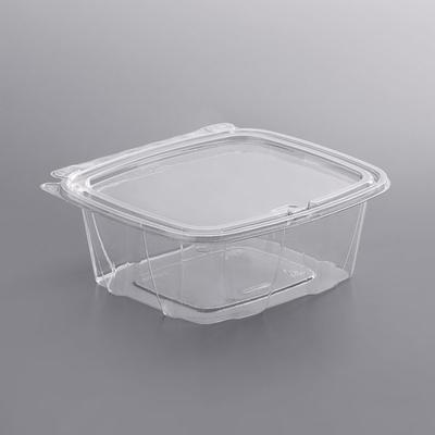 """Dart CH32DEF ClearPac Safe Seal 32 oz. Tamper-Resistant, Tamper-Evident Container with Flat Lid -7 1/8"""" x 6 3/8"""" x 2 5/8"""" - 200/Case"""