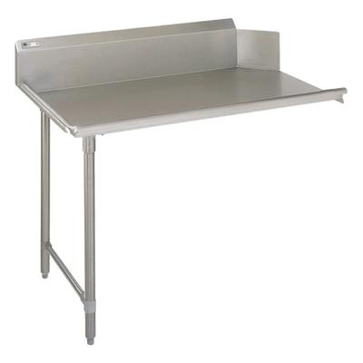 John Boos EDTC8-S30-L36 36 Clean Dishtable w/ Galvanized Legs & 18 ga Stainless Top, L to R on Sale
