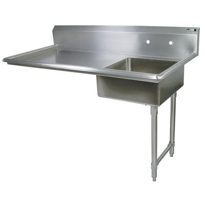 John Boos JDTS-20-60UCR 60 Undercounter Soiled Dishtable w/ 16 ga Stainless Legs, R to L on Sale
