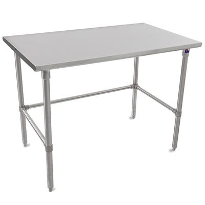 John Boos ST6-3684SBK 84 16 ga Work Table w/ Open Base & 300 Series Stainless Flat Top on Sale