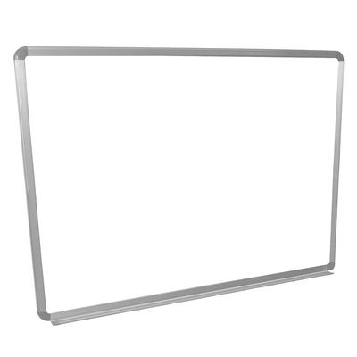 Luxor WB4836W 48x36 Painted Steel Magnetic White Board w/ Aluminum Frame & Tray on Sale