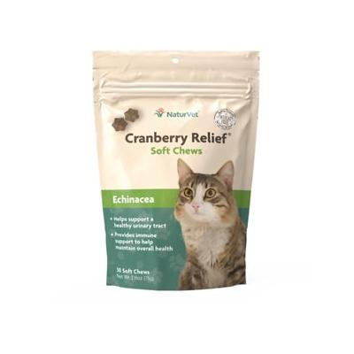 NaturVet Cranberry Relief Plus Immune Support Cat Soft Chews, 50-count