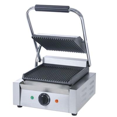 Adcraft SG-811 Commercial Panini Press w/ Cast Iron Grooved Plates, 120v on Sale