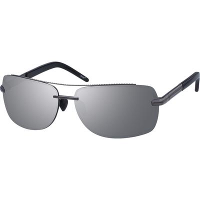 Zenni Mens Sunglasses Gray Frame Other Metal A10102412