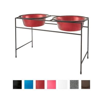 Platinum Pets Sapphire Blue Modern Double Diner Stand, Two Wide Rimmed Bowls, X-Small, 1-cup bowls