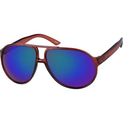 Zenni Men's Sunglasses Brown Plastic Frame