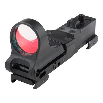 C-More Systems Railway Red Dot Sight - Railway Polymer 8 Moa Standard Switch, Black