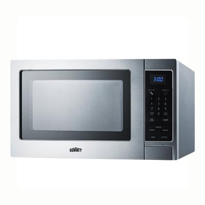 Summit SCM853 Microwave Oven - Rotary Turntable, Digital Controls, Stainless Steel, 115v on Sale