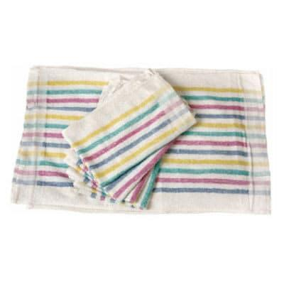 Chef Revival 705MSK Cotton Terry Cloth Towel, 15 x 26, Multi-Stripe on Sale