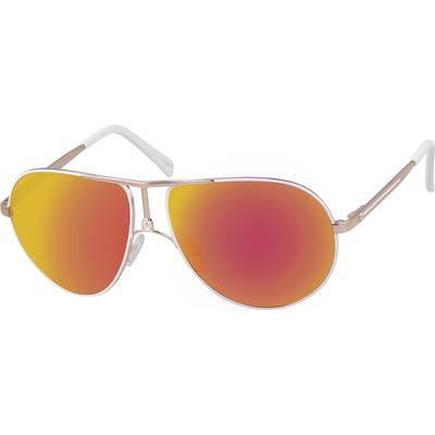 Zenni Men's Sunglasses White Met...
