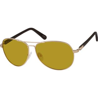 Zenni Men's Sunglasses Gold Frame