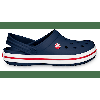 Crocs Navy Crocband™ Clog Shoes Vintage style and classic Crocs comfort. Our lightweight Crocband clog is built with signature Croslite material for a form-to-foot fit and heel straps that swing back for a snug fit and forward or wear as a clog. Crocs trade Crocband trade Details:...