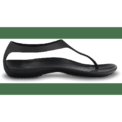 Crocs Black / Black Women's Sexi Flip Shoes on Sale