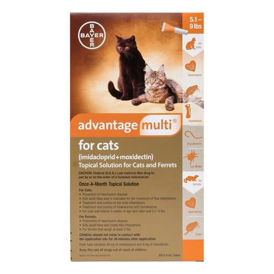 Advantage Multi (Orange) for Kittens & Small Cats up to 10lbs 3 Doses