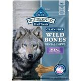 Blue Buffalo Wilderness Wild Bones Mini Dental Chews Grain-Free Dog Treats, 10-oz bag