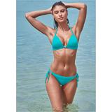 Enhancer Push UP Triangle Triangle Bikini Tops - Blue/green