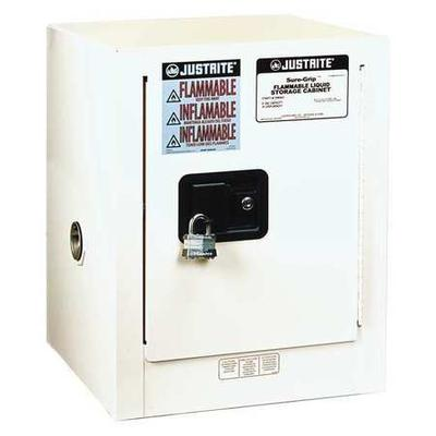 JUSTRITE 890405 Sure-Grip EX Flammable Safety Cabinet, 4 gal., White