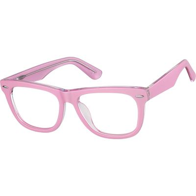 Zenni Women's Breast Cancer Awareness Prescription Glasses Pink Frame
