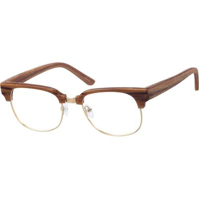 Zenni Men's Retro Browline Presc...