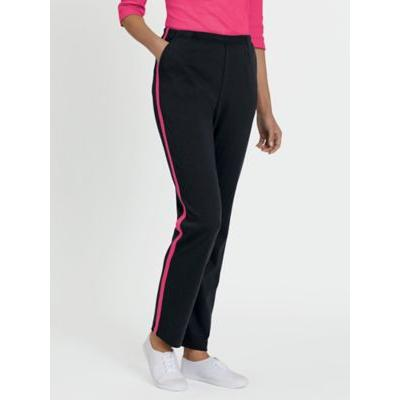 Women's Fresh Sport Pants, Black/Hot Pink L Misses