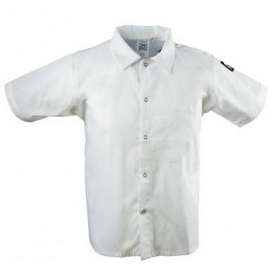Chef Revival CS006WH-3X Chef's Shirt w/ Short Sleeves - Poly/Cotton, White, 3X on Sale