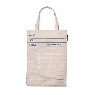 library card tote bag