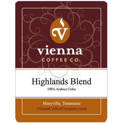 Vienna Coffee WHW-12 12 oz Whole Bean Coffee, Highlands Blend