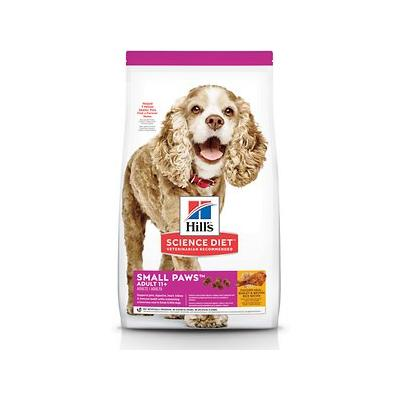 Hill's Science Diet Adult 11+ Small Paws Chicken Meal, Barley & Brown Rice Recipe Dry Dog Food, 15.5-lb bag