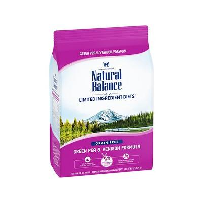 Natural Balance L.I.D. Limited Ingredient Diets Green Pea & Venison Grain-Free Dry Cat Food, 4.5-lb bag