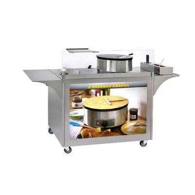 "Equipex MC-04 Mobile Crepe Cart - 32 1/2"" x 39"" x 24"", Stainless"