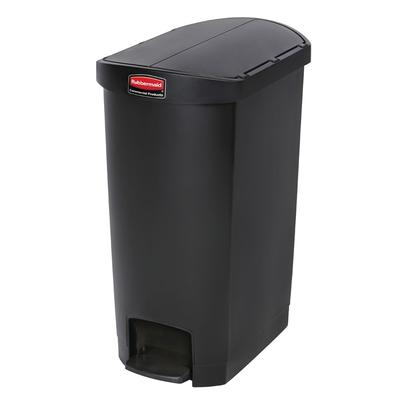 Rubbermaid 1883612 13 gal Rectangle Plastic Step Trash Can, 20.75L x 13.5W x 28.38H, Black on Sale