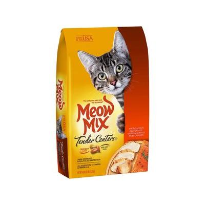 Meow Mix Tender Centers Salmon & White Meat Chicken Dry Cat Food, 3-lb bag